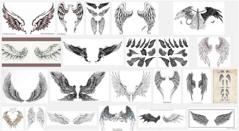 wings tattoo meaning wings for design 187 a to z