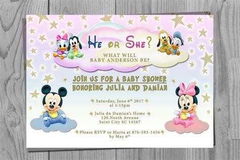 Disney Baby Shower Invitations by 11 Baby Shower Invitation Templates