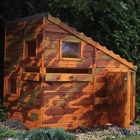 Wooden Sleepers Wickes by Wickes Command Post Wooden Playhouse 6x4 Wickes Co Uk