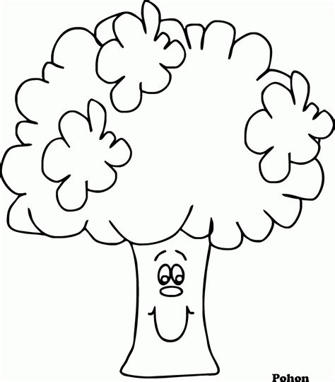 wallpaper pohon hitam putih mewarnai gambar pohon versi kartun contoh anak paud