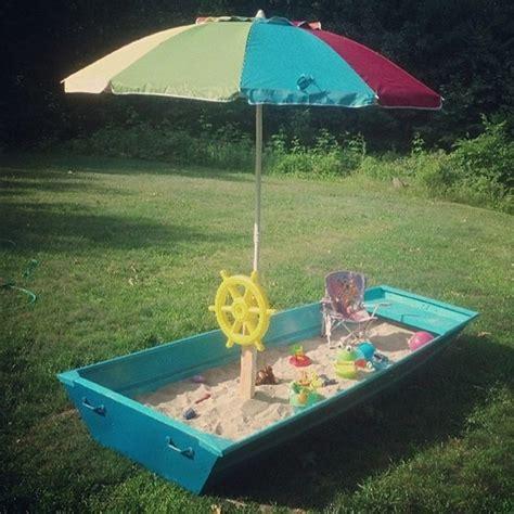 blue boat sandbox how to make children s games for diy garden home dezign