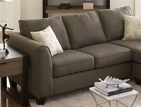 pillows for grey sofa 3009 sectional sofa in grey fabric w accent pillows