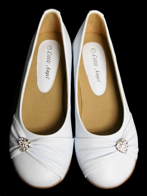white shoes for flat childrens white flat shoes w rhinestone