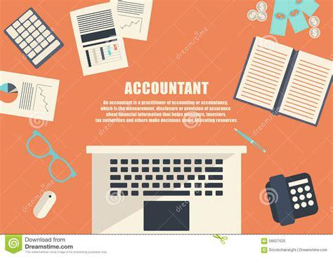 freelance career accountant stock vector image 56627520