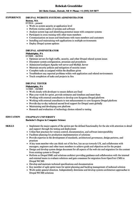 drupal resume sles velvet