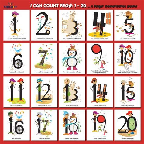 printable number posters 1 20 quot i can count from 1 20 quot poster numbers 11 20 pinterest