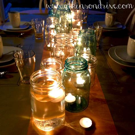 mason jar candles centerpiece bells will be ringing