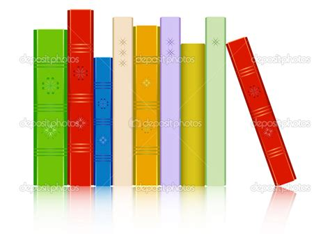 a reflected books books in a row reflected clipart panda free clipart images