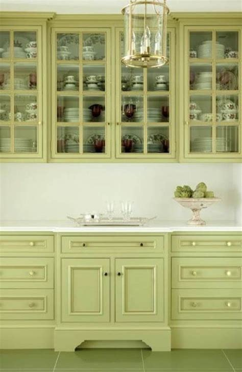 green kitchen cabinets ideas painted green kitchen cabinets with light counter tops
