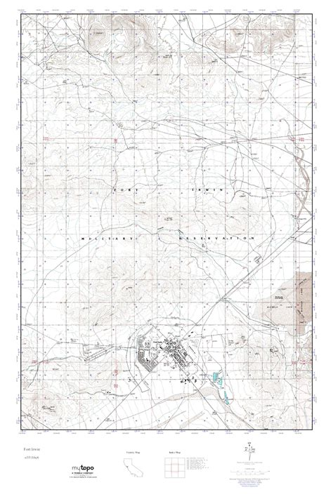fort irwin map mytopo fort irwin california usgs topo map