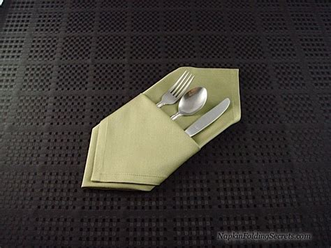napkin folding secrets fold a diagnal pocket server with