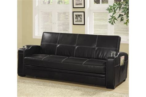 faux leather sofa bed flip flop sofas faux leather sofa bed with cupholder