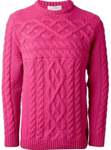 Pink Cable Sweater Soulland Cable Knit Sweater Where To