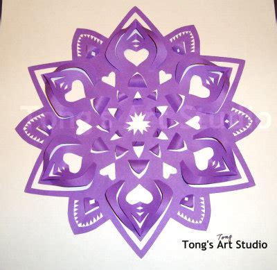 3d paper cutting templates 3d snowflakes pattern free patterns