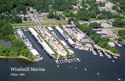 public boat launch on st croix river aerial view of marina windmill marina on the st croix