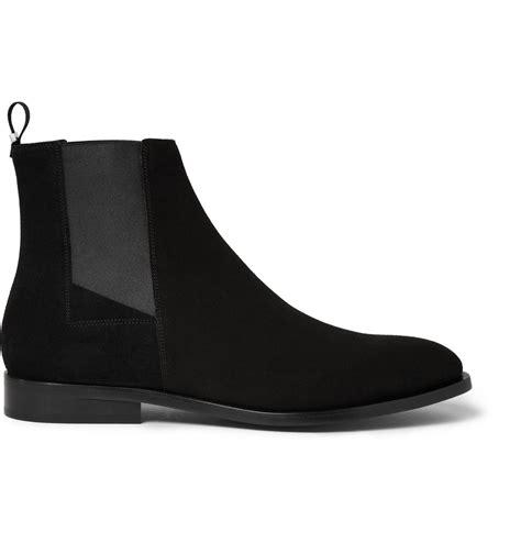 balenciaga boots mens balenciaga suede chelsea boots in black for lyst