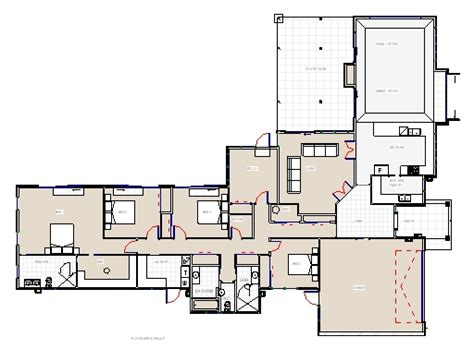 floor plans nz moeraki four plus office bedroom house plan from project
