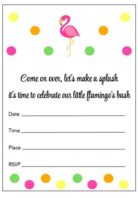 601 Best Sleeve Images On Pinterest Free Printable Free Printables And Printables Flamingo Invitation Template Free