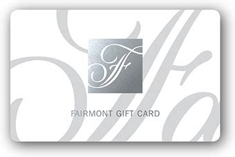 Fairmont Gift Card - fairmont hotels and resorts