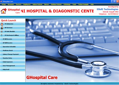 Mba Hospital Administration Projects by Ghospital Care Clinic Management System Free Source