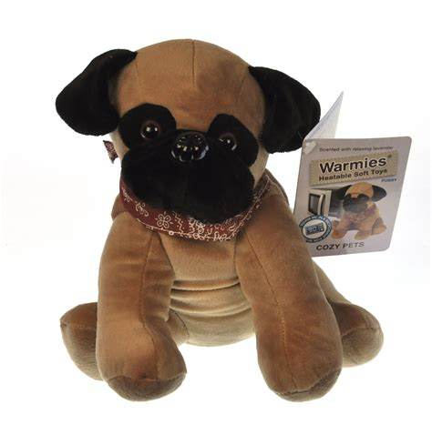 warmies pug cozy plush pug warmies microwavable soft pink cat shop