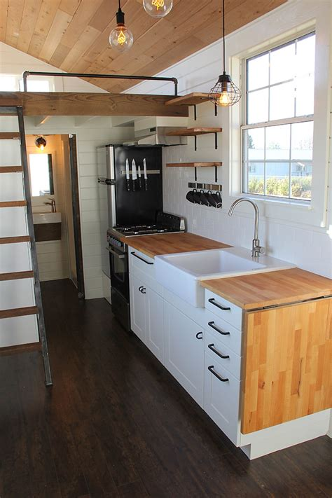 tiny home kitchen design rustic industrial tiny house swoon