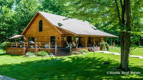 cabin for sale big log cabin homes for sale in michigan big log cabin homes