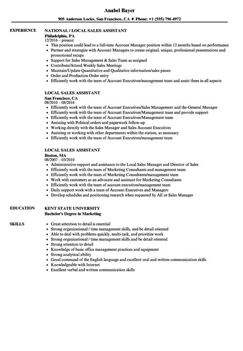 Deputy Manager Sle Resume by Local Sales Assistant Resume Sles Velvet