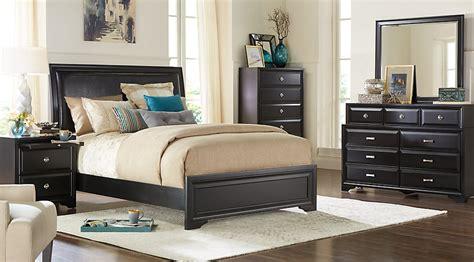 belcourt black  pc queen upholstered bedroom queen bedroom sets black