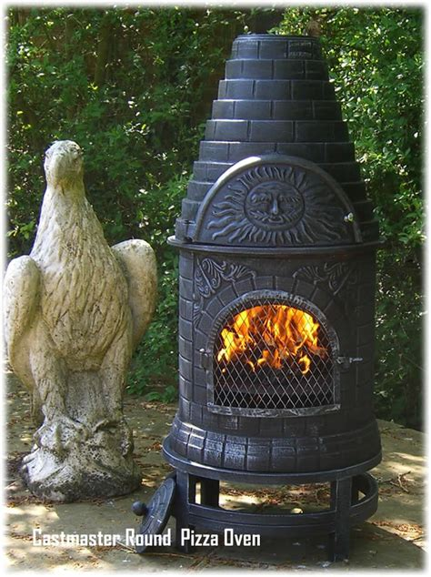chiminea oven buy the castmaster cast iron outdoor pizza oven
