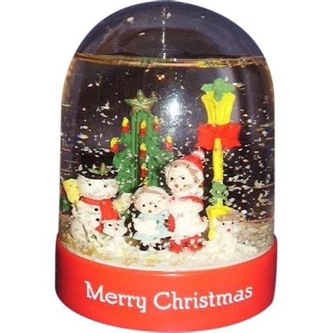 christmas snow globe snow dome mib 1991 from