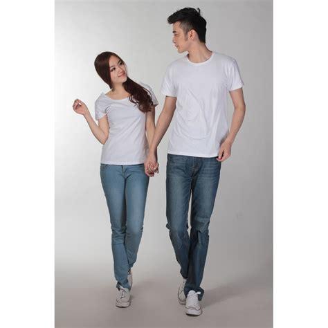 Kaos U White U kaos polos katun wanita u neck size l 81301 t shirt
