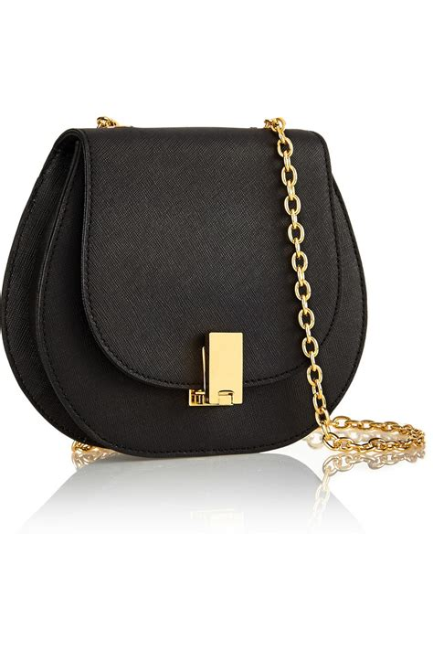 Zac Posen Shoulder Bag by Zac Zac Posen Loren Textured Leather Shoulder Bag In Black