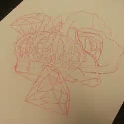 tattoo crown diamond diamonds sketch linedrawing