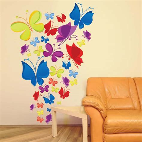 3d butterflies wall sticker living room bedroom background large big colorful butterfly wallpaper mural for bedrooms