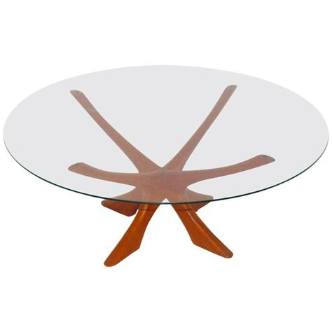 teak and glass coffee table by illum wikkelso
