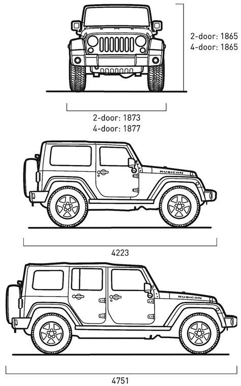 Cj7 jeep wrangler dimensions