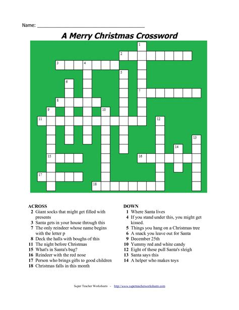 best christmas puzzles and answers 20 printable crossword puzzles baby