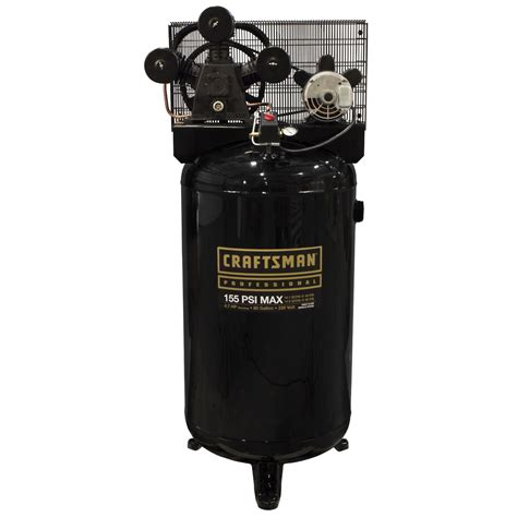 Craftsman 80 Gallon 4.7 HP Oil Lubricated Professional Air Compressor   Sears
