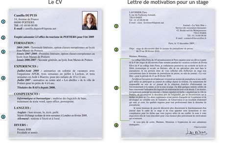 Cv Lettre by Lettre De Motivation Francais