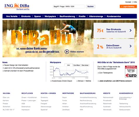 ing bank deutschland what color is your money showcase of bank websites