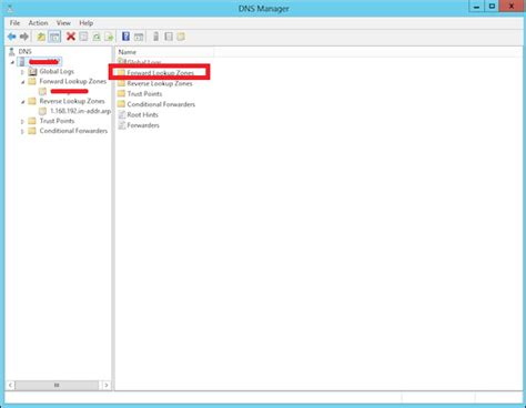 Forward Lookup Windows Server 2012 Manage Records