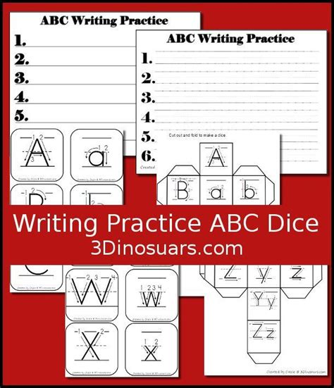 free printable alphabet dice free writing practice abc dice a fun dice game to review