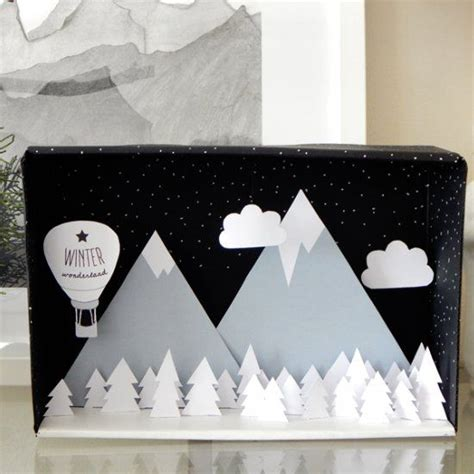 printable christmas diorama create a winter wonderland diorama with this photo