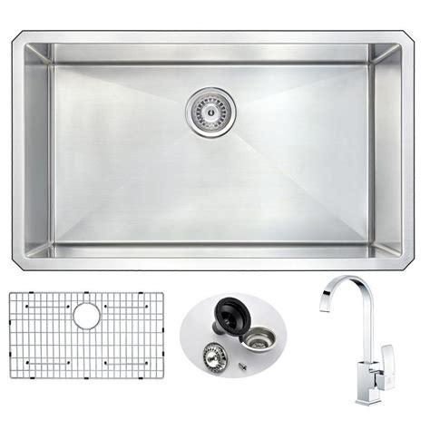 32 Kitchen Sink Kraus All In One Undermount Stainless Steel 32 In Single Bowl Kitchen Sink Khu100 32 The Home