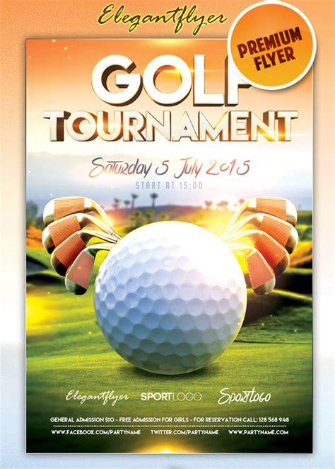golf tournament flyer template golf tournament flyer template 20 in vector