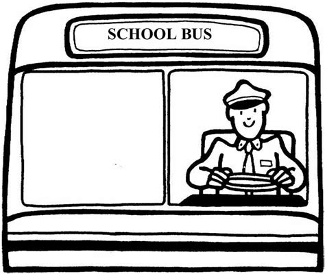 Coloring Page Of School Bus Driver | school bus driver coloring page clipart panda free