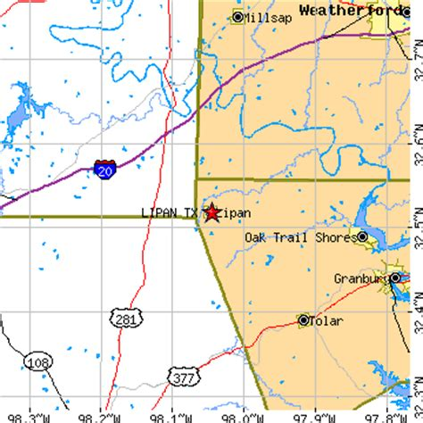santo texas map lipan texas tx population data races housing economy