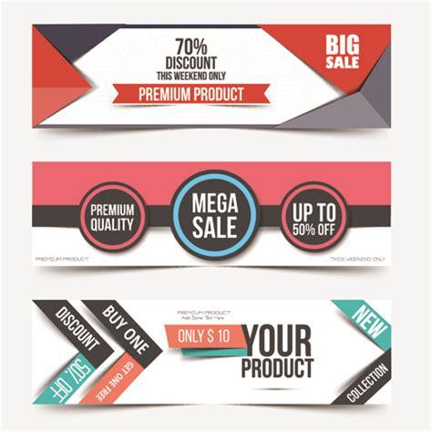 html design sle big sale business web banners vectors 02 vector banner