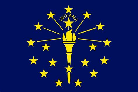 Pin Indiana Flag Of The State on Pinterest
